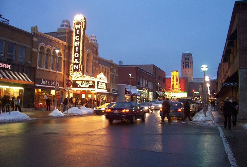 Restaurants, bars, shops in Ann Arbor